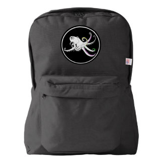 Black and White Octopus Funny Colorful Tentacles Backpack