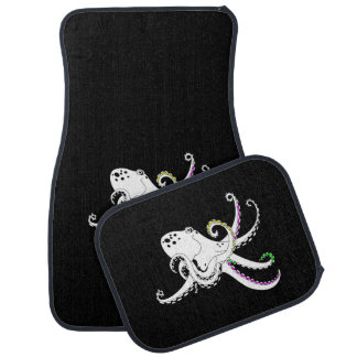Black and White Octopus Funny Colorful Tentacles Car Mat