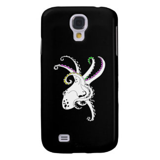 Black and White Octopus Funny Colorful Tentacles Galaxy S4 Case