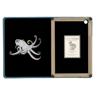 Black and White Octopus Funny Colorful Tentacles iPad Mini Retina Cover