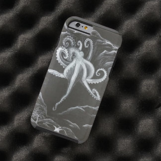 Black and White Octopus Phone Case