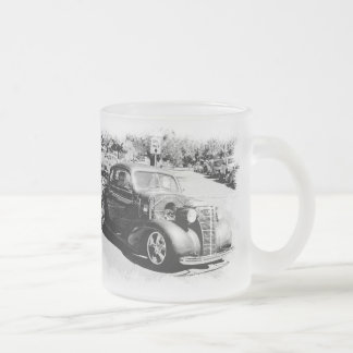 Black and White Oldie - Vintage Auto 10 Oz Frosted Glass Coffee Mug