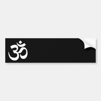 Black and White Om Symbol Bumper Sticker