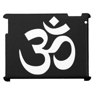 Black and White Om Symbol iPad Case