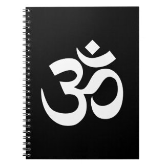Black and White Om Symbol Notebook