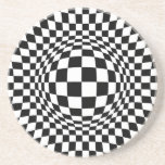 Black and White Op Art Drink Coaster