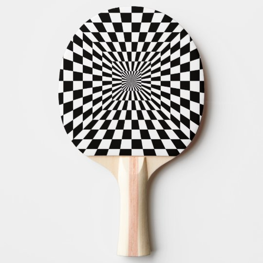 Black and White Optical Illusion. Ping Pong Paddle