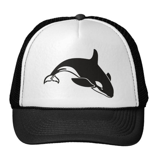 Black and White Orca Killer Whale Cap