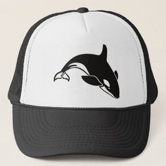 Black and White Orca Killer Whale Trucker Hat