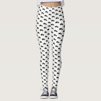 Black and White Orca Patterned Leggings