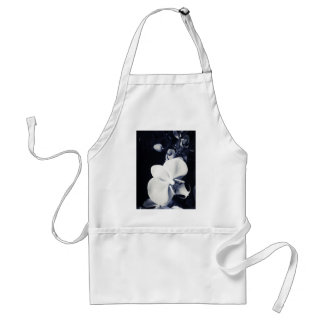 Black and white orchid standard apron