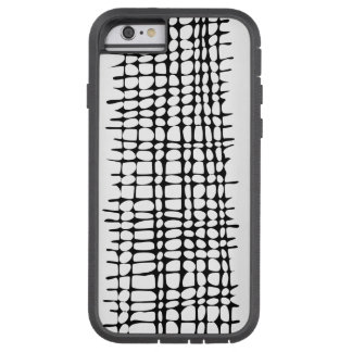 Black and White Organic Grid Pattern Abstract Art Tough Xtreme iPhone 6 Case