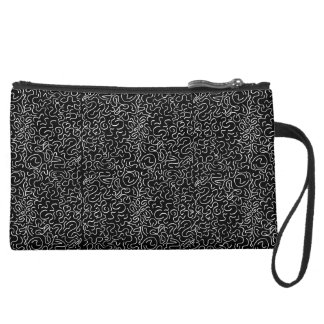Black and white organic Pattern Wristlets