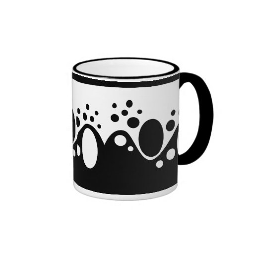 Black and White Original Abstract Coffee Mugs