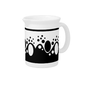 Black and White Original Abstract Pitcher