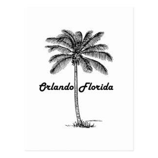 Black and White Orlando & Palm design Postcard