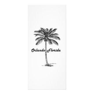 Black and White Orlando & Palm design Rack Card