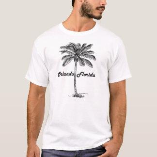 Black and White Orlando & Palm design T-Shirt