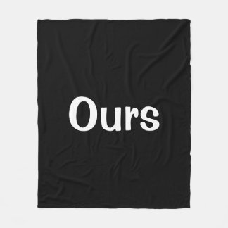 Black and White Ours Blanket