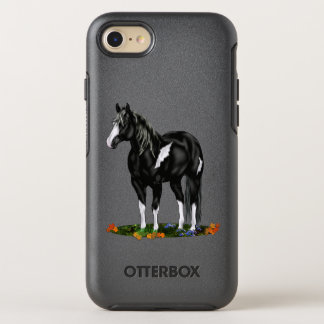 Black and White Overo Paint Horse OtterBox Symmetry iPhone 8/7 Case