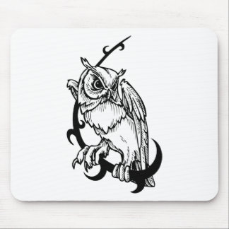 Black and white owl design mousepads