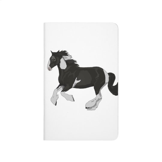 Black and White Paint Pinto Gypsy Vanner Horse