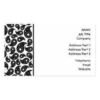 Black and White Paisley. Business Cards