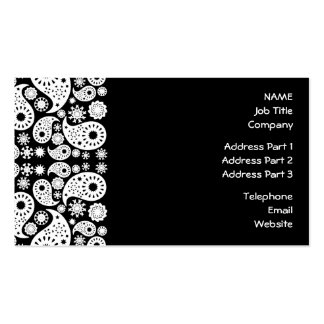Black and White Paisley. Business Card Template