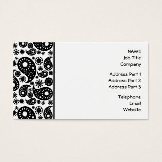 Black and White Paisley. Business Card