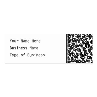 Black and White Paisley. Business Card Templates