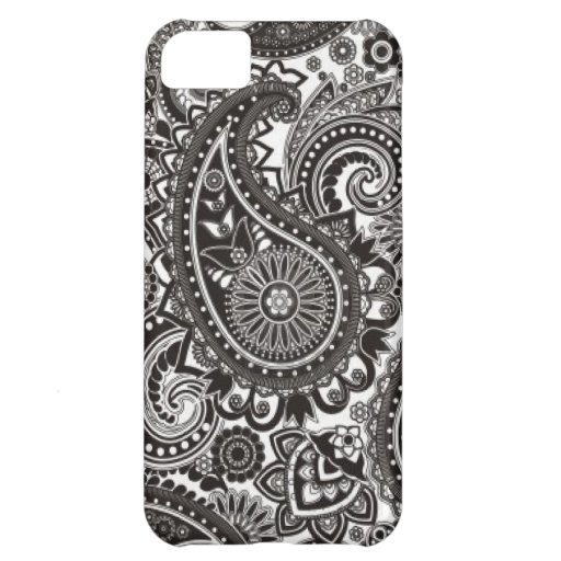 Black and White Paisley Iphone Case iPhone 5C Cover
