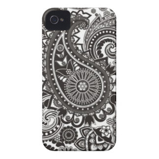 Black and White Paisley Iphone Case iPhone 4 Case-Mate Cases