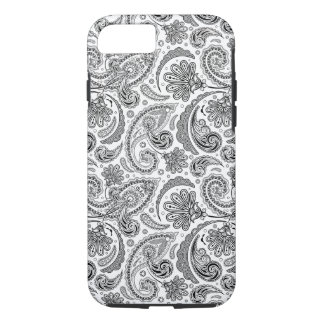 Black And White Paisley Lace Retro Pattern iPhone 8/7 Case