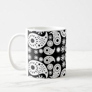 Black and White Paisley. Coffee Mug