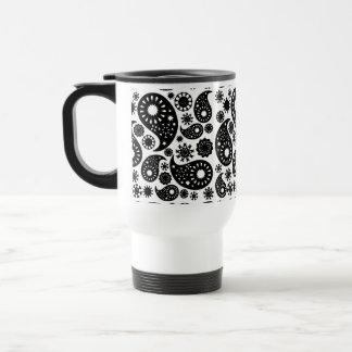 Black and White Paisley. Mug