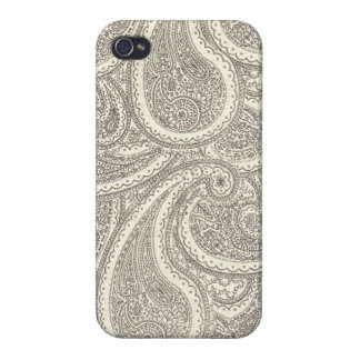 Black and White Paisley Pattern Cover For iPhone 4