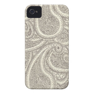 Black and White Paisley Pattern iPhone 4 Case