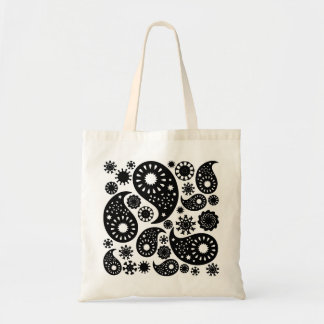 Black and White Paisley Pattern. Tote Bag