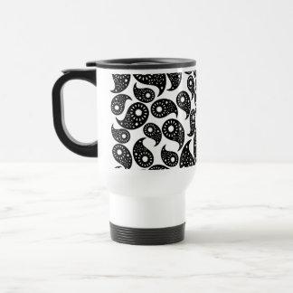 Black and White Paisley. Travel Mug