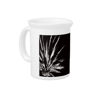 Black and White Palm Tree Pitcher