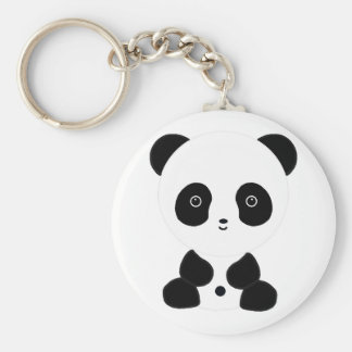 Black and White Panda Bear Key Chains