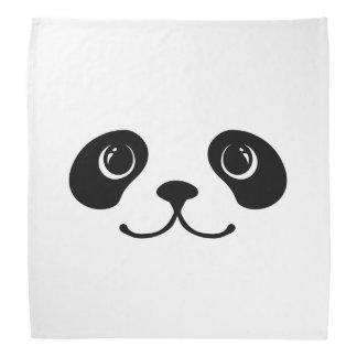 Black And White Panda Cute Animal Face Design Bandana