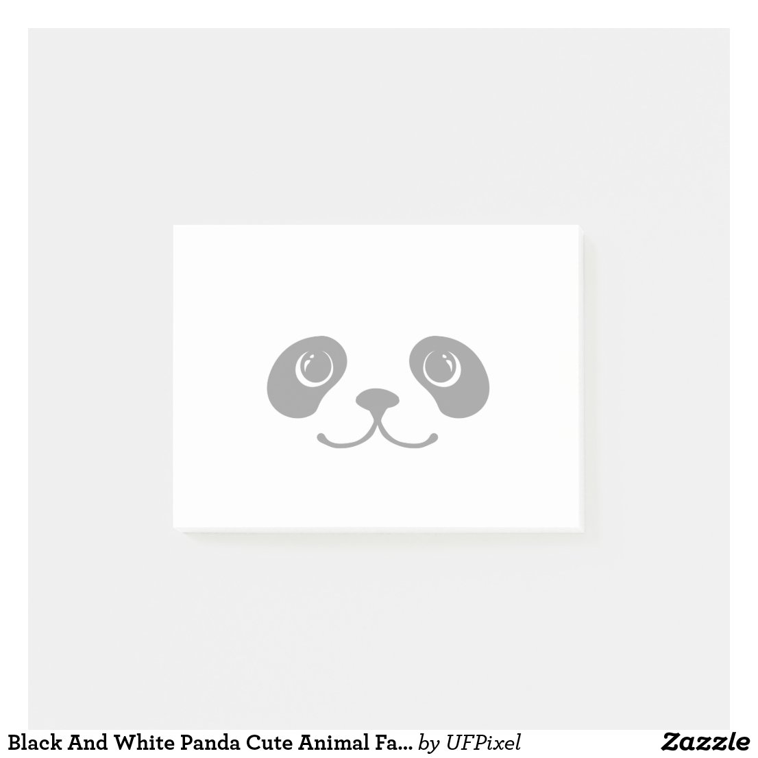 Black And White Panda Cute Animal Face Design Post-it Notes