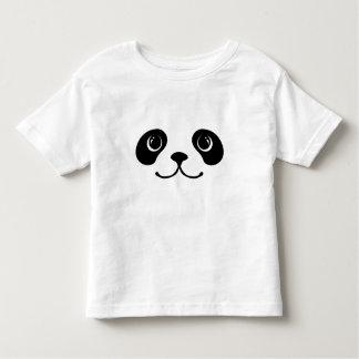 Black And White Panda Cute Animal Face Design Toddler T-Shirt
