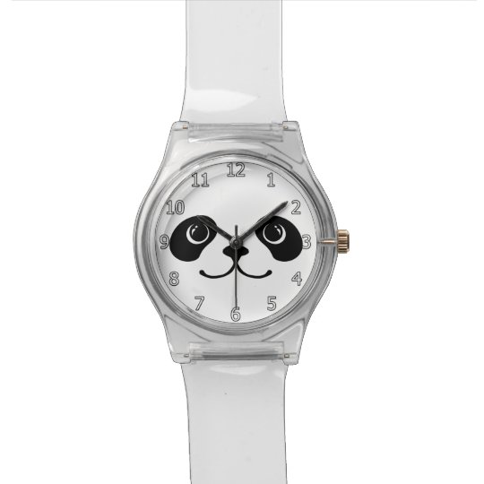 Black And White Panda Cute Animal Face Design