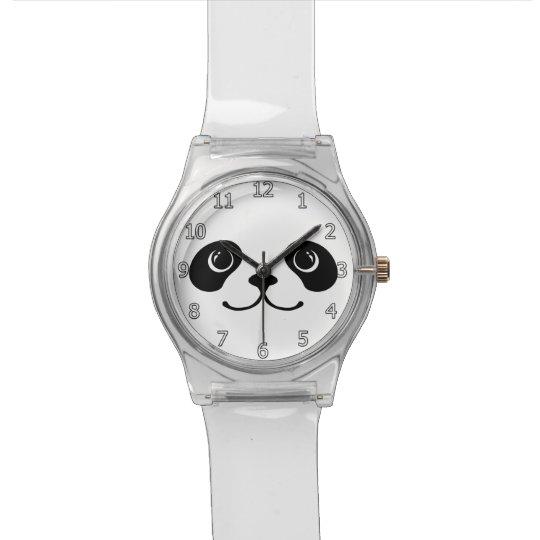 Black And White Panda Cute Animal Face Design