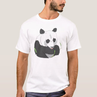 black and white panda design t-shirt
