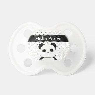 Black and White Panda Monochrome Baby Boy's Dummy