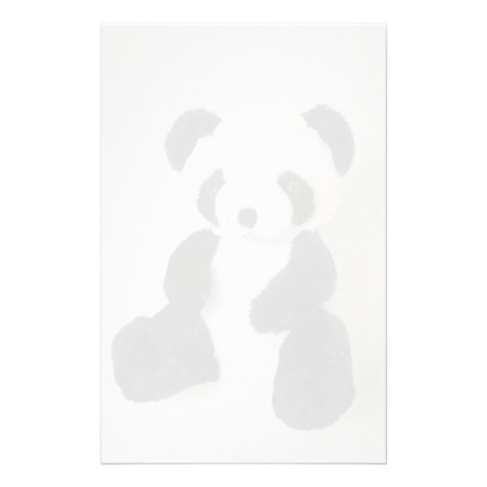 Black and white Panda toy Stationery