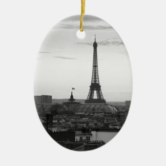Black and White Paris Ceramic Oval Decoration